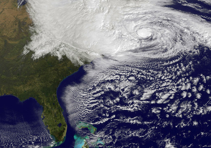 "Here's a picture of Hurricane Sandy. Can you spot the swing state? That is, of course, the wrong question to ask. Most people don't want politics to corrupt the collective response to a crisis. For our leaders, that means tackling this emergency without caring about political goals or risks. For us, it means focusing on helping each other and putting politics aside. President Obama hit that note in his press conference on Monday afternoon, saying:  I am not worried at this point on the impact on the election. I'm worried about the impact on families and our first responders.  Even if political maneuvering is quarantined for a few days, however, political reality will not be ignored. If the forecasts are right, this storm is on pace to essentially truncate the homestretch of the presidential campaign. Instead of the closing arguments and flagrant fouls that characterize the end of tight races, people will watch the President take command during a crisis. That dynamic is usually an advantage for the incumbent.  In fact, even in crises where a president's performance or policies prove unpopular, the short-term reaction tends to trigger an automatic spike in public approval. (In the international context, political scientist John Mueller documented this trend in his authoritative study, Presidential Popularity from Truman to Johnson.) So even if Hurricane Sandy causes great tragedy and legitimate questions about the government's response, the incumbent is unlikely to suffer for it at the polls. And that's not the only hard part for Romney. While the notion of putting politics aside is often presented as a ""neutral"" or universal goal, it effectively punishes the challenger more, by leaving him with nothing to do.  Campaigning or debating during a policy challenge makes both candidates relevant — and there's plenty to debate when big policy decisions are on the table. (It's always struck me as absurd that faced with a policy crisis, people say candidates should stop campaigning on policy. But that's how both parties deal with gun control after mass shootings, and how the McCain Campaign initially reacted to the financial crisis.) Now that campaigning is suspended, it's hard for Romney to do anything constructive or be in the conversation. So Romney has a tough challenge — ""to remain relevant and not sit idly by while the president shows empathy and leadership,"" as John Hudak of the Brookings Institution observed today.  In the end, it is understandable that we don't want disaster response infected by any hint of partisan goals, but that does not require sublimating all campaigning during the final stretch of the campaign. - Ari Melber"