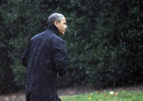Obama, Romney cancel events due to Hurricane Sandy Photo: President Obama walks to the Oval Office of the White House upon his return to Washington on October 29, 2012. REUTERS/Jason Reed