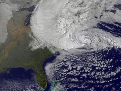 Sandy from space!