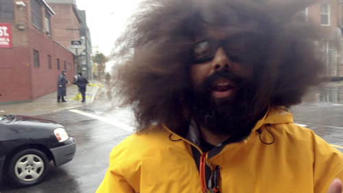 Welp, now I really want Reggie Watts to be a hurricane weatherman just to see what his hair does.