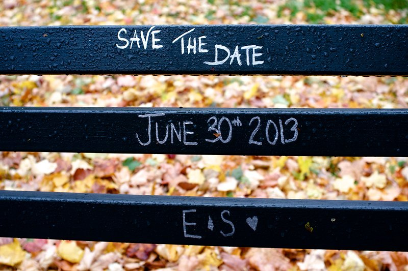 Save the Date Shot during the prelude to Hurricane Sandy.