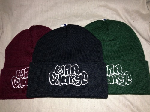 warcharge:  Guys, beanies are on sale!Limited! Go get one.http://warcharge.bigcartel.com/product/graff-beanie