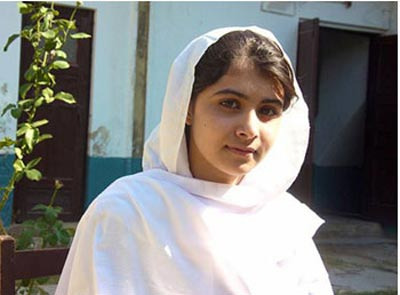 This is a picture of Malala. I think that she is very brave and I hope that she is happy in her new home.