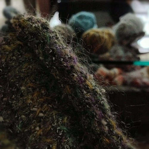 Getting some #knitting done while #Sandy huffs, puffs and tries to blow our house down! :-)