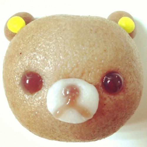 yassun:  steamed sweet bean-jam bun #rilakkuma #food #foodporn #gourmet #yum #yummy #eat #delicious #instagood #instafood #kawaii #cute
