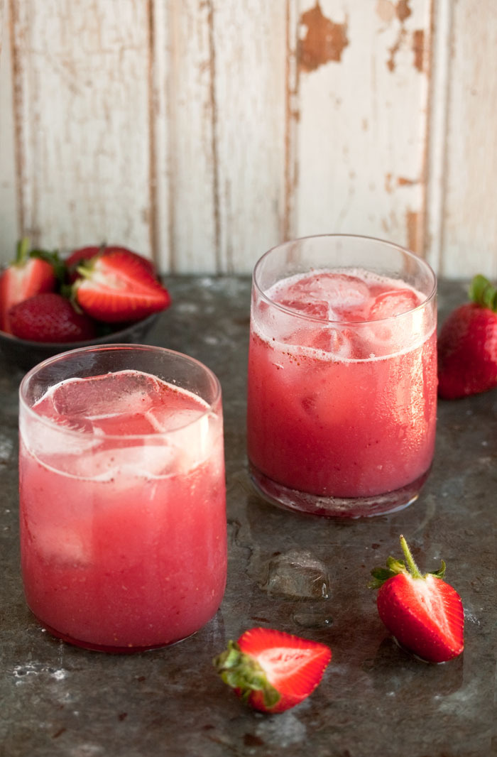 gastrogirl:  strawberry cocktail with coconut water.