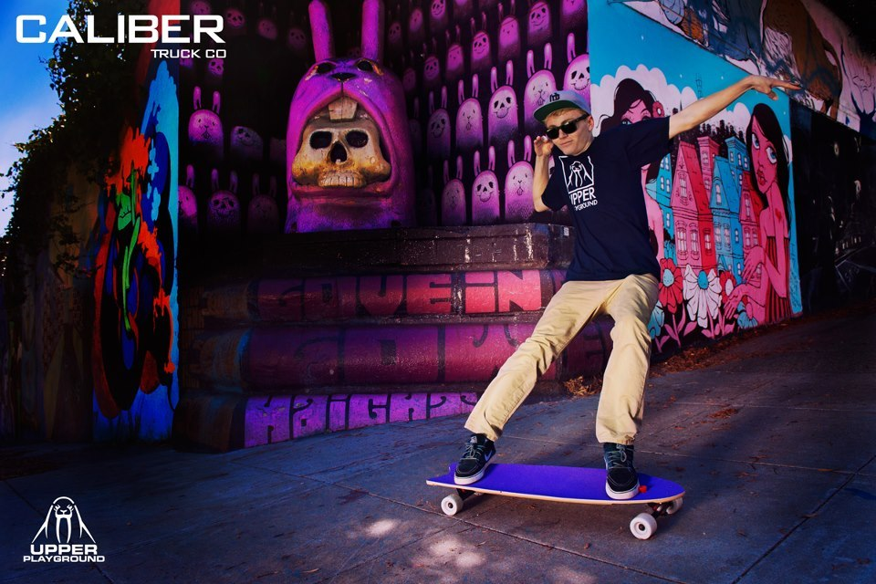 CVC Homie Liam Morgan shredding it up in this awesome pic!  Liam is rocking some threads from Upper Playground.  www.calibertruckco.com www.upperplayground.com www.volantewheels.com  www.cometskateboards.com