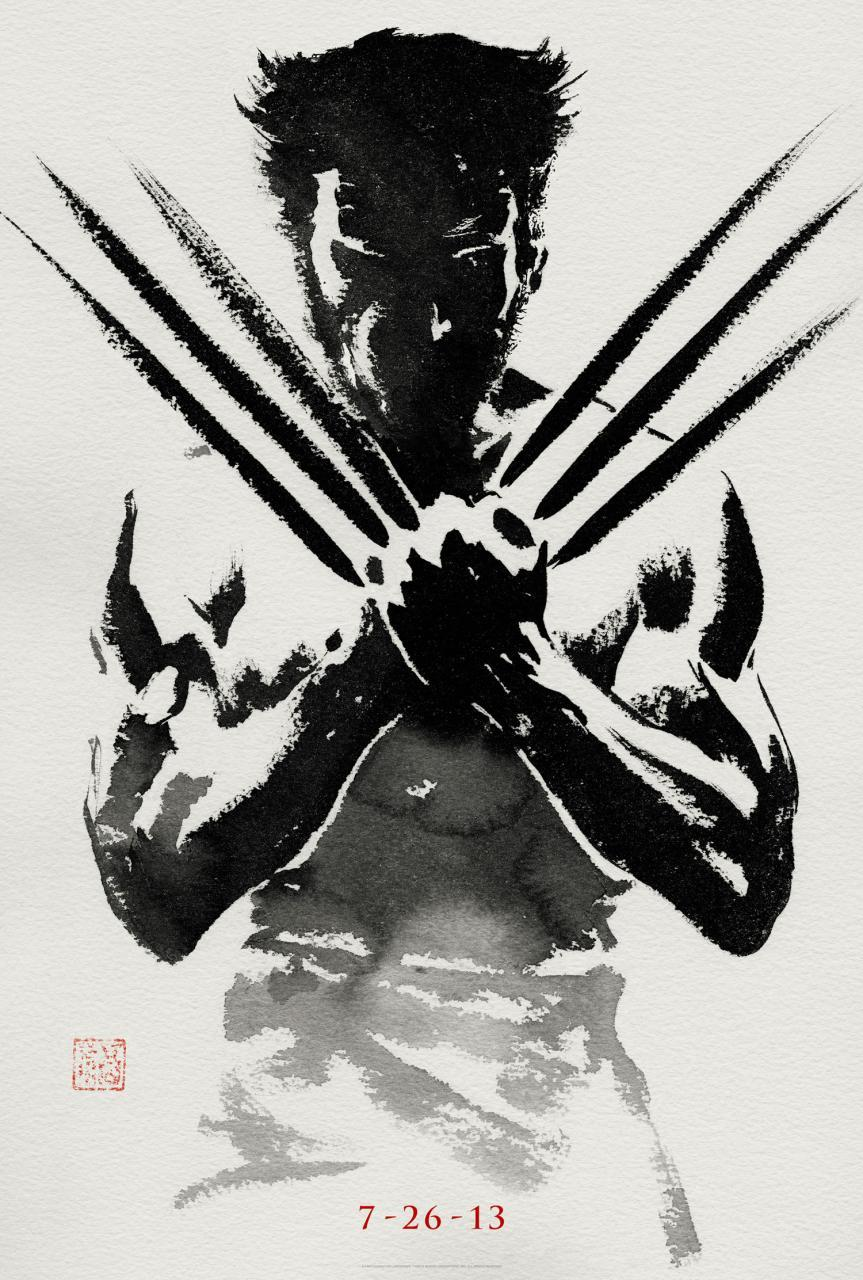 Very cool teaser poster for The Wolverine.