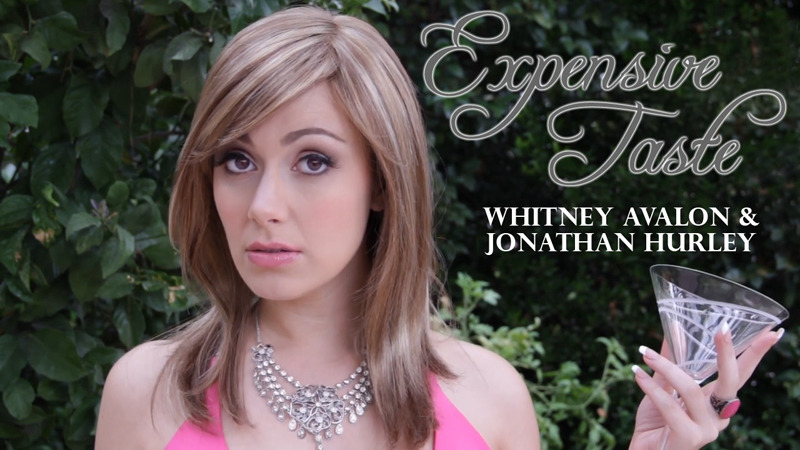 Whitney Avalon in the video for EXPENSIVE TASTE, an original comedy song she co-wrote and performed, hitting iTunes and YouTube soon.