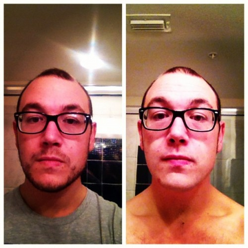 Post #fest11 depression. Shaved my beard off for the first time in 2 years. I miss it