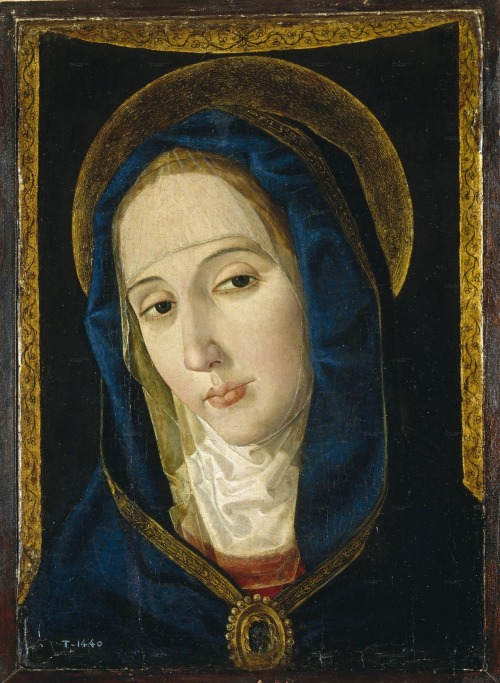 Mary as the Mater Dolorosa, by Paolo de San Leocadio.