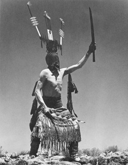 theroamer:  Apache Devil Dancer by John S. Candelario, 1939.