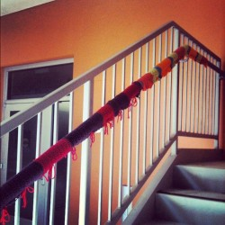 oioioisveta:  Someone really wanted to keep the stair rail warm this winter at the design building. How thoughtful. (at Cruess Hall)