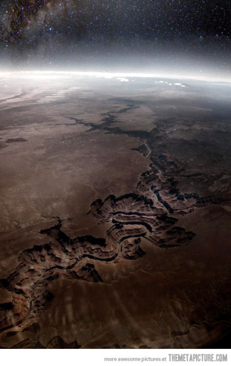 Frakkin' awesome. (via Grand Canyon as seen from Outer Space… - The Meta Picture)