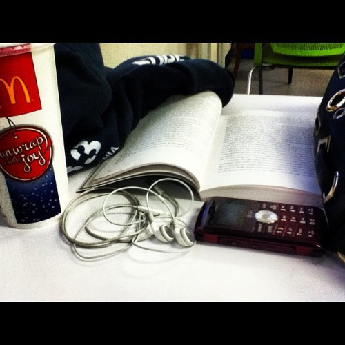 What I do in math class. #read #eat #music #text #everythingbutmath #math #sucks #school #chc #horribleteacher