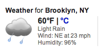 Sandy Update (6:30pm) Google Weather lies, and I have a work conference call at 9pm so I can't get drunk.  Well, not too drunk….