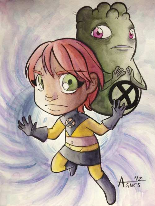 U-Go-Girl and Doop painted at NYCC  Stay safe everyone on the East Coast who is in the path of Hurricane Sandy!