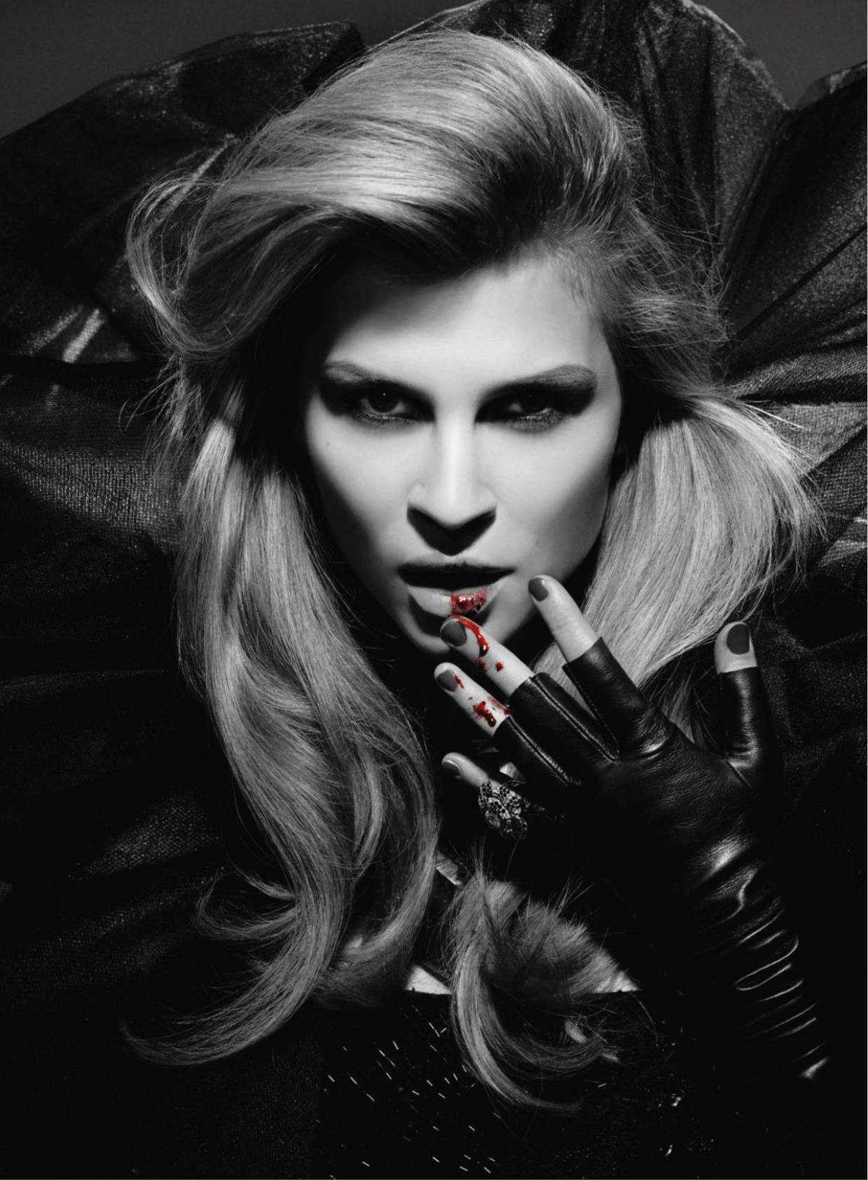 bohemea:  Clemence Poesy: Interview With a Vampire - Bazaar by Karl Lagerfeld, March 2011
