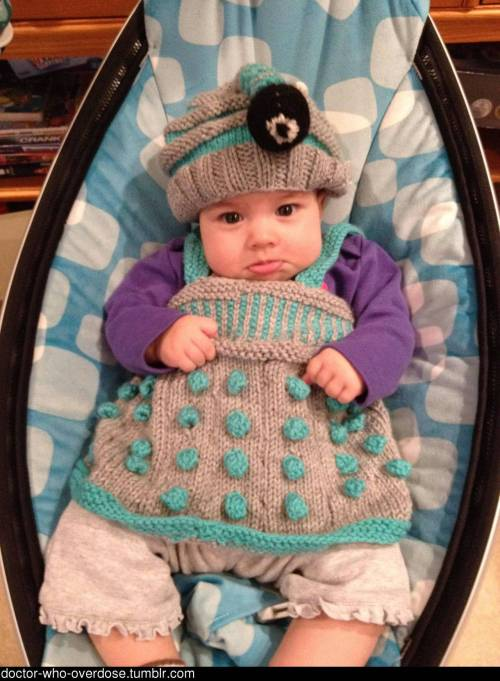 doctor-who-overdose:  Beware of the Baby Dalek! She will exterminate you. Click for the best DoctorWho tumblr ever.