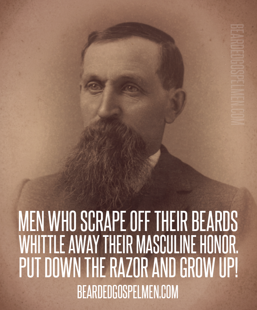 Do you scrape off your beard? Quote taken from @SaintBeardrick
