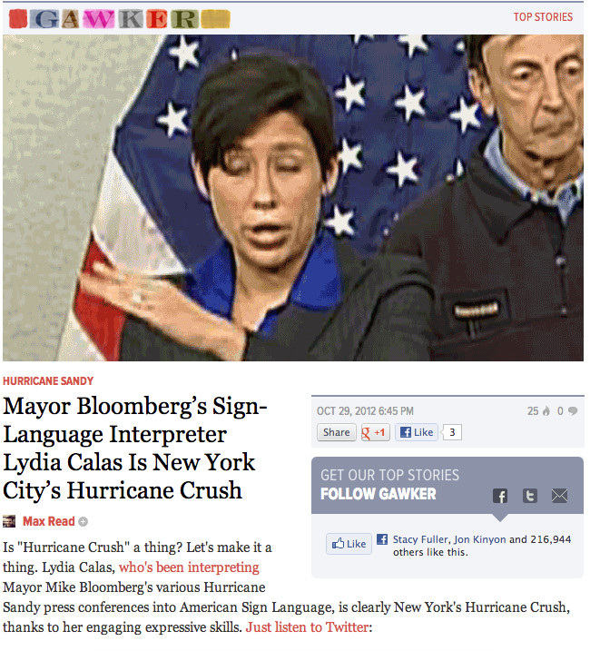 http://gawker.com/5956006/mayor-bloombergs-sign+language-interpreter-lydia-calas-is-new-york-citys-hurricane-crush