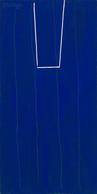 alara:  Robert Motherwell, Open in Ultramarine with White, 1973, Acrylic on canvas