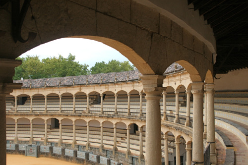 "PLAZA DE TOROS Ronda, Spain©Laura Quick I am not a supporter of bullfighting, but I acknowledge that it is a part ofSpanish history and culture. Ronda is widely considered the birthplace of modern bullfighting. Currently, they host two events a year. The arena is small by most standards, but the view, even from the cheap seats is excellent. In 1572, Philip II created the Real Maestranza de Caballeria for the purpose of providing training in horsemanship. This place was assigned for equestrian exercises which dated back to the Middle ages and included games of skill with bulls. The ferocious manner in which these animals charged both horses and riders became a spectacle for the town. In the 18th century horsemen's games were replaced by unmounted bullfighters. The Romero family led the establishment of Ronda as a centre of the modern corrida contested on foot, providing three generations of the most outstanding bullfighters of all time. Fransisco Romero invented the killing sword and cape, and his grandson Pedro (1754-1839) perfected the skills of the sober classic Ronda style. Pedro is widely considered to be the father of modern bullfighting and one of the greatest matadors of all time. He retired after slaying more than 5,600 bulls without incurring personal injury. His personality gained respect and social dignity for a trade that combined courage with skill. Many tourist guides will tell you the Ronda bullring is the oldest and largest in Spain, in fact the story is confusing. Our little bullring only has seating for 5,000 spectators, hardly the largest in the world, but the ""rueda,"" which is the large round circle of sand, is the largest in the world at 66m, making it 6m larger than Spain's biggest bullring, the Plaza Toros Las Ventas in Madrid. The bullring in Sevilla is considered older having commenced construction in 1761, and was completed in 1785, compared to Ronda's commencement in 1779 and completion in 1784, though purists agree Ronda's bullring should be entitled to the crown since it was first to stage a corrida. However, in May of 1784 during the first inaugural corrida to be held in Ronda's Plaza de Toros, part of the stand collapsed forcing its closure until repairs could be made."