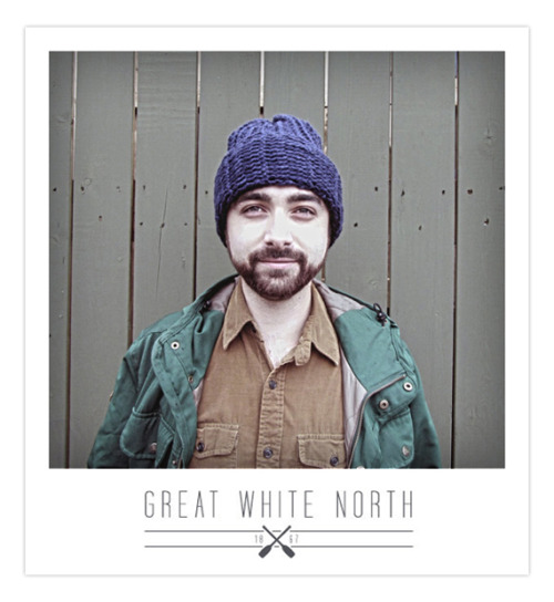 Get your crocheted winter wear from Great White North 1867 you hosers. I helped out with the logo and modeled some of the goods. ETSY