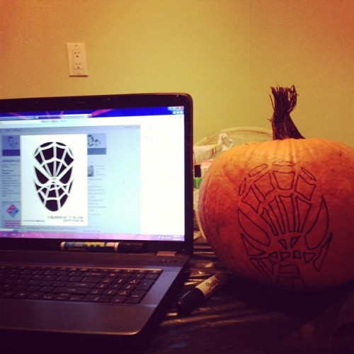 Fail. #spiderman #pumpkin #carving #halloween #fail