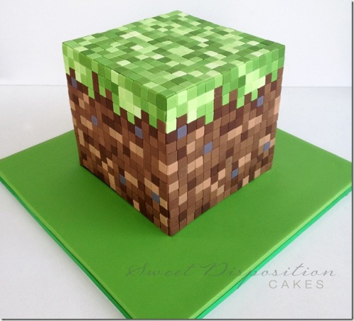 Minecraft Cake by Sweet Disposition Cakes