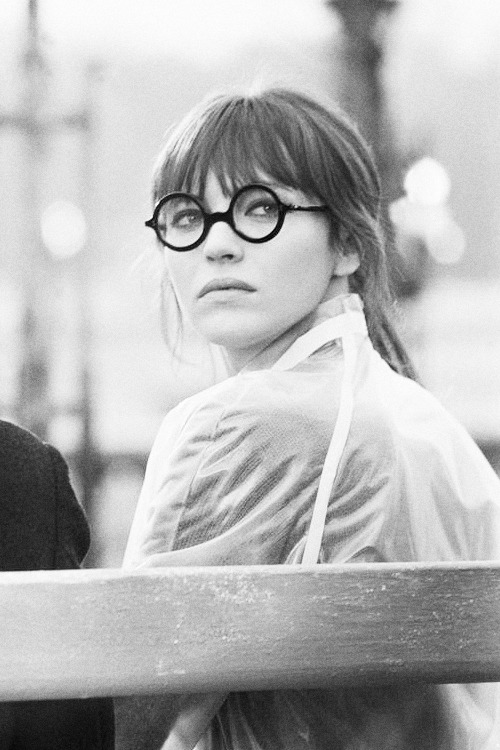 Anna Karina on the set of 'Anna', 1967.