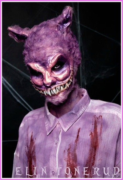 Creepy Cheshire cat makeup by Elin T.!