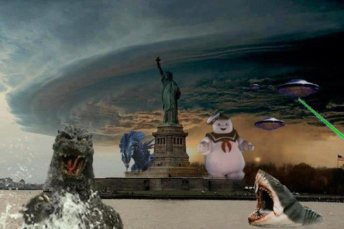 Sandy en Nueva York en estos momentosSandy in NY right now