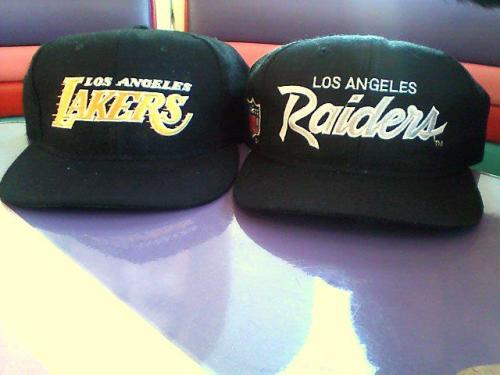 got these two at a garage sale on Sunday for 2 bucks each The Lakers one is actually made by Starter not Sports Specialties