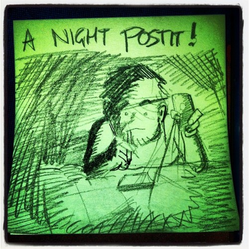 A #Night #postit is better than nothing!!! #postitgram #lrn #sketch#draw