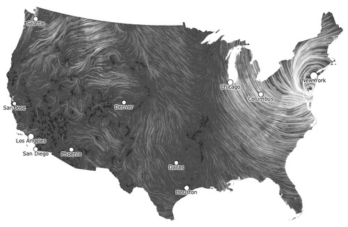 Hurricane Sandy Wind Map