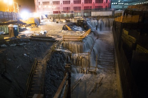 buzzfeedandrew:  Wow, ground zero is flooded. via the AP