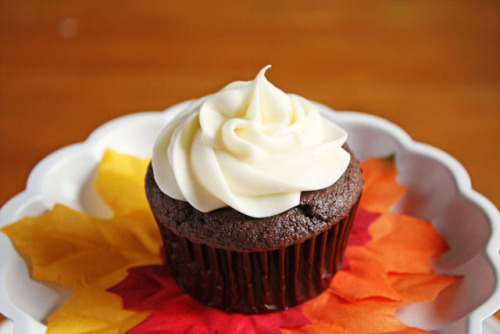 candyexpress:  chocolate-pumpkin-spice-cupcakes by luluthebaker on Flickr.