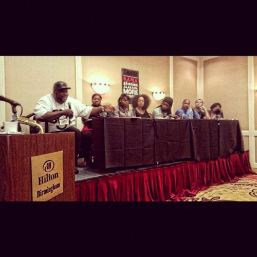 Panelists on the Alabama Urban Music Conference.