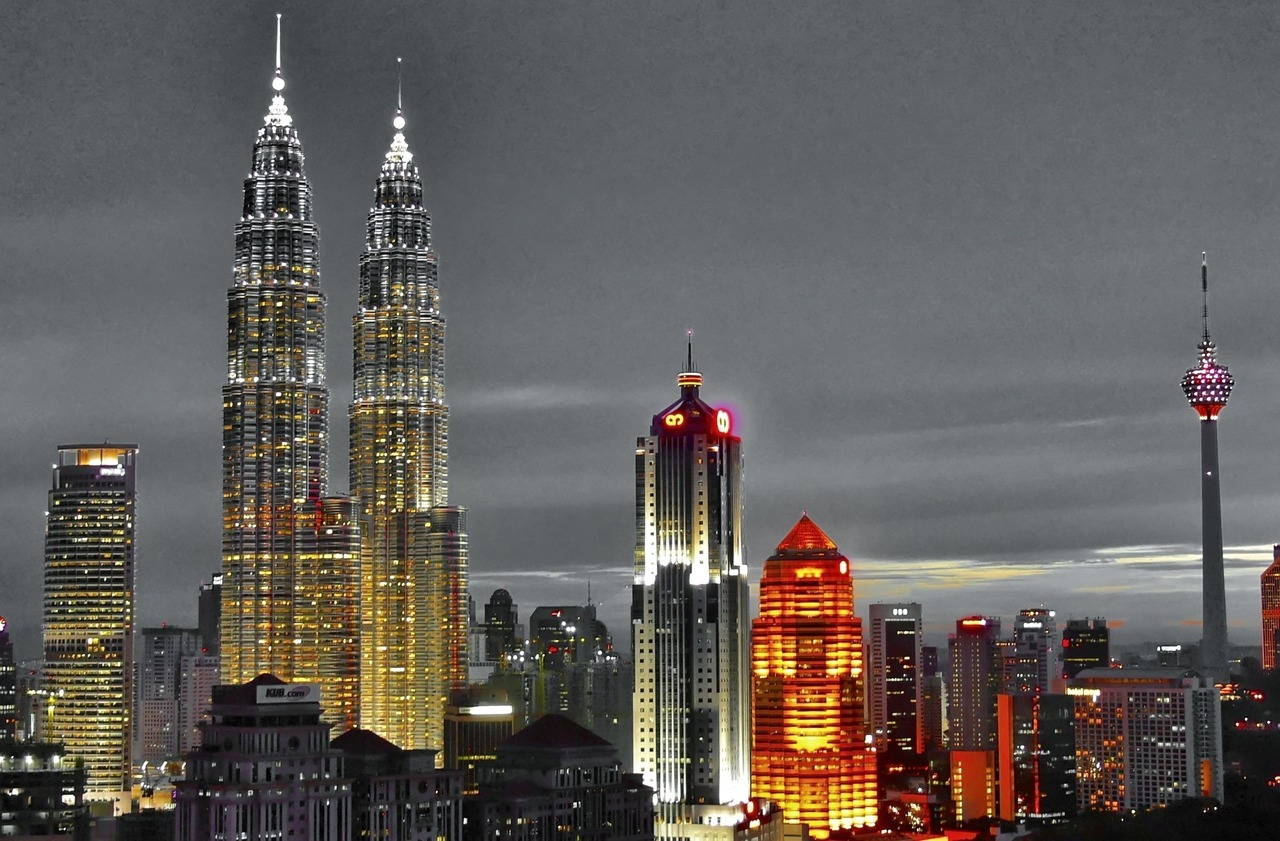 An alternative view of the Kuala Lumpur skyline.