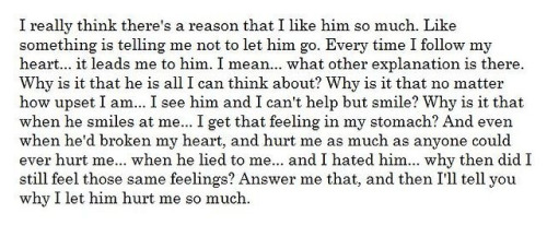 & this is why I took him back.  *Read*