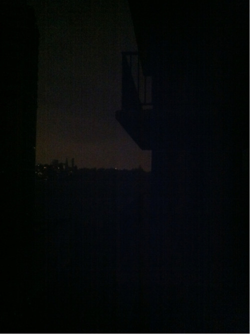 Manhattan's west side with no power. Never thought I would see it so dark.