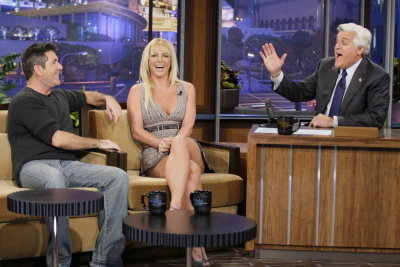 Don't forget to watch us on Jay Leno tonight. Simon actually behaved, I was impressed ;)