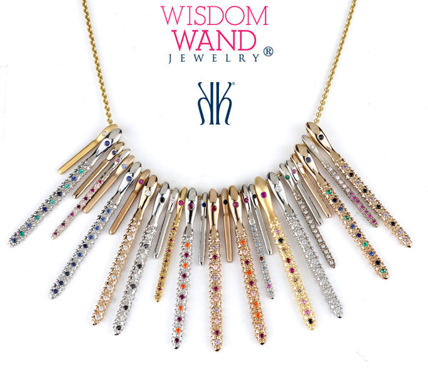 Wisdom Wand Jewelry® Share & Wear Wisdom ® Celebrate you and your loved ones with a timeless symbol of your beauty and wisdom!  Wear your Wisdom and share your wise words with those dearest to you. Pass along your heart's sentiment and offer support, guidance, and direction to those you love, no matter how near or far.  Katrina Kelly's Wisdom Wand Jewelry ® collection features various size charms and styles to mix and match, creating your own personal story of achievement and wisdom. Each different size and color combination, along with the wise words of the Inscribed Wand, compliment one another to create a sparkling adornment that reflects the beauty and wisdom of the woman who wears it. Wisdom Wands convey a message of confidence, hope, understanding and support, making them a perfect heartfelt gift to yourself and your loved ones.