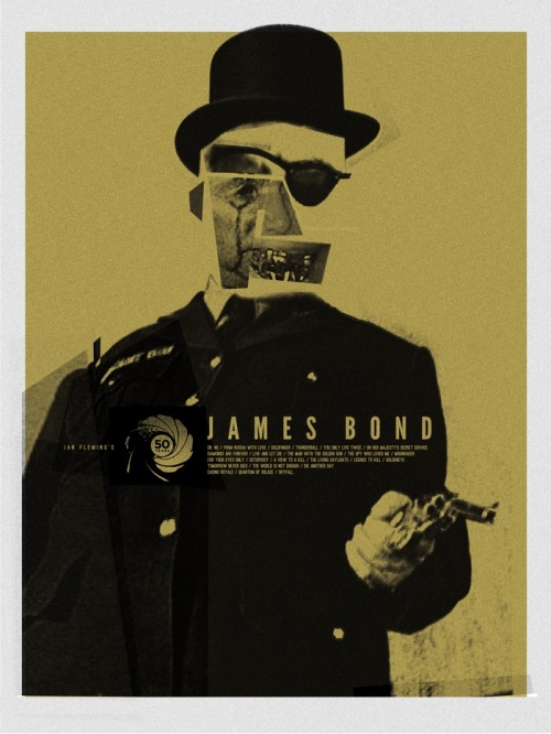 50 Years of James Bond by Adam Juresko