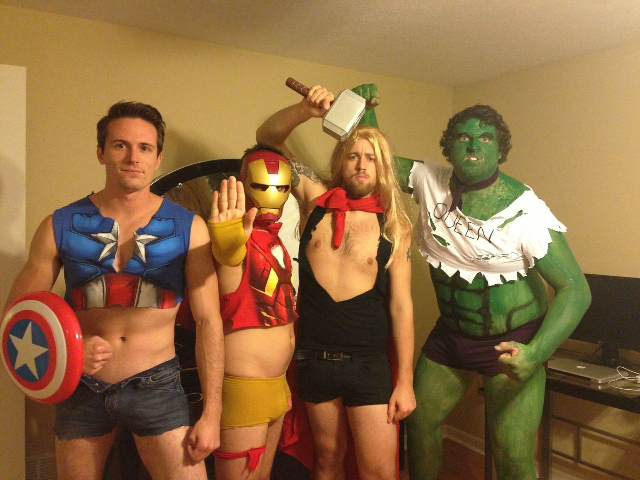 "kyrax2:  screamingfurby:  My friends and I decided to go as ""Sexy Avengers"" for Halloween - Imgur  Best. Thing. Ever.  Y/Y?"
