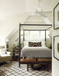 cozy bedroom (via the lettered cottage)