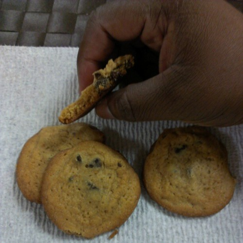 #chocolatechipcookies #watching the #news #nowork #tomorrow #hurricanesandy