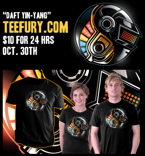 """Daft Yin-Yang"" by @Bamboota on http://www.teefury.com/ for $10 no Oct 30th! RT for Giveaway!"