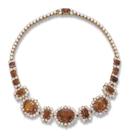 omgthatdress:  Citrine Necklace Garrard Christie's